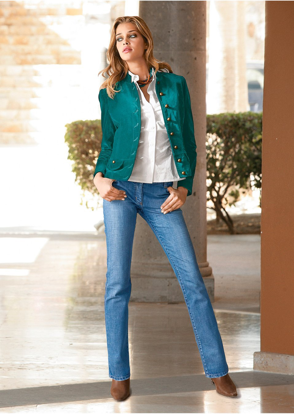 Jeans dama stretch aspect prespalat